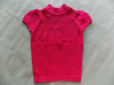 NWT Girl's Gymboree Parisian Chic pink short sleeve sweater ~ 3 4 5 6