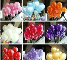 """100pcs Wedding Party 10"""" Pearlised Balloons Decorations 10 Colours One Listing"""