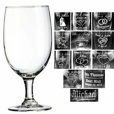 Personalized 16 oz Wine Glasses Custom Wedding Party Gifts Bridal Shower Gift