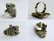 New Men Women  Vintage Art Deco Retro Antique Bronze cute Owl Body Ring