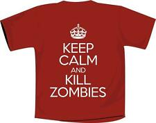Keep Calm And Kill Zombies T Shirt Red