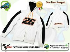 NEW OFFICIAL 2013 GENUINE DANI PEDROSA MENS WHITE ZIP/HOODIE/FLEECE VR/46 RANGE