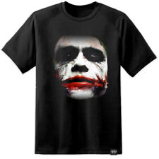 HEATH LEDGER JOKER BATMAN DARK KNIGHT FACE SUICIDE SQUAD (S - 3XL) Harley Quinn