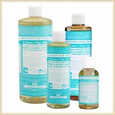 DR BRONNER'S- UNSCENTED BABY MILD ORGANIC CASTILE SOAP-CHOOSE YOURS