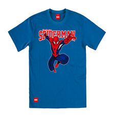 Addict & Marvel Licensed Collection Spider-Man The Amazing College Blue T Shirt