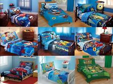 NEW - BOYS 4PC TODDLER BEDDING SET - MULTIPLE DISNEY CHARACTERS / TV CHARACTERS