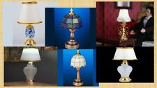 dolls house miniature 1:12 scale  a wireless led table lamp 6 to choose from.