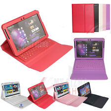 LEATHER CASE WIRELESS BLUETOOTH KEYBOARD FOR SAMSUNG GALAXY TAB AND TAB 2 10.1