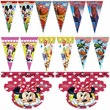 2m Disney Childrens Birthday Party Flag Banners Bunting Mickey Minnie Cars