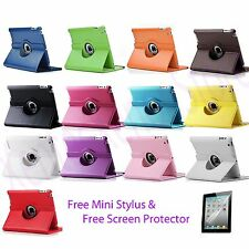 The New iPad 4 4G Gen 3 3rd 2 360 Rotating Magnetic PU Leather Case Smart Cover