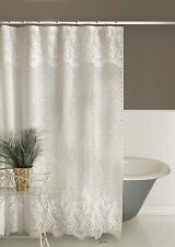 "Heritage Lace Floret Shower Curtain 72"" x 72"" - Colors: Ecru and White"