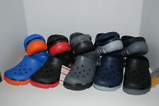 NWT CROCS DUET SPORT CLOGS CHARCOAL BLACK BLUE NAVY shoes 5 6 7 8 9 11 REALTREE