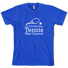 On The 8th Day Tennis Was Created - Mens T-Shirt - 10 Colours - Wimbledon