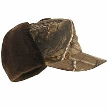REALTREE Camo Warm Thinsulate Peaked Trapper Hat Snug Pigeon Shooting Decoying