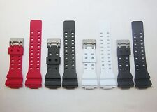 Silicon Watch Band Red Charcoal Black White 16mm Replace for Casio G-Shock