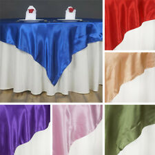 """30 SATIN SQUARE 60x60"""" Table OVERLAYS Wholesale Wedding Party Toppers Supplies"""