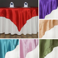 """40 SATIN SQUARE 60x60"""" Table OVERLAYS Wholesale HUGE LOT Wedding Party Supply"""