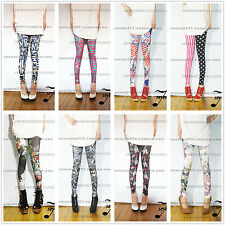 2013 wild fashion breathable comfort stretch skinny colored graffiti leggings