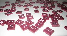 MAHOGANY SCRABBLE DELUXE LETTERS FOR CRAFTS OR REPLACE - ONE LETTER - SHIP FREE
