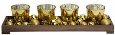 Pretty Christmas Table Decoration Xmas Tea Light Holders with Tray & Baubles