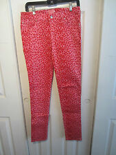 TRIPP PINK AND RED LEOPARD SKINNY JEANS FROM HOT TOPIC DIFFERENT SIZES TO CHOOSE