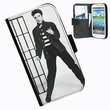 Elvis Presley Leather wallet case for Samsung Galaxy S4 I9500 and I9505 phone