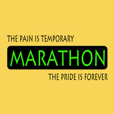 Womens Marathon Pain is Temporary Pride Forever T-Shirt