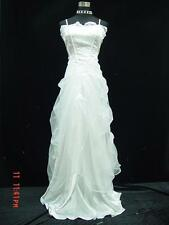 Cherlone Satin White Lace Ball Wedding/Evening Prom Bridesmaid Gown Formal Dress