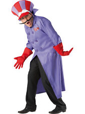 Adult Licensed Wacky Races Dick Dastardly Fancy Dress Costume Cartoon 80s BN