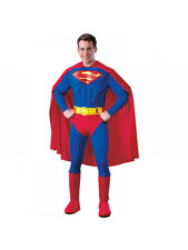 Adult Superman Deluxe Muscle Chest Fancy Dress Costume Superhero Man of Steel BN
