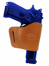 Barsony Tan Leather Yaqui Gun Holster for FN, GLOCK, HK 9mm 40 45 Full Size