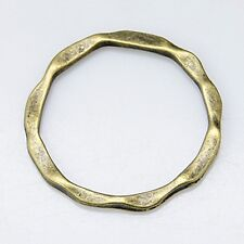10 Connector Rings Linking Rings Charms Wiggly Silver Bronze Hoops -  NF - 22mm