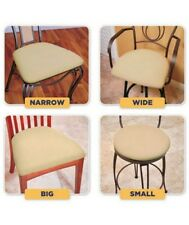 Set of 4 EZ Removable Washable Dining Chair Seat Cover Chairs Covers Removable