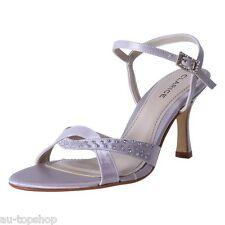 Cheap Clarice Satin Dressy Bridal Shoes Debutante Wedding Shoes Emma Silver