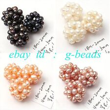 4-5mm nice freshwater pearl hand made intertexture ball one pcs DIA. 18 - 20mm