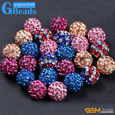 10mm Quality Czech Crystal Rhinestones Pave Clay Round Disco Ball Beads 10Pcs