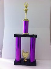 Ballet Trophy,Award,Twin Column,Marble Based,Dance,FREE Engraving