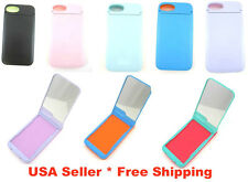 Glow In The Dark Luminous w Flip Up Mirror & Card Case Holder for iPhone 4, 4s