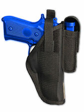 Barsony OWB Gun Holster w/ Magazine Pouch for Taurus Full Size 9mm 40 45