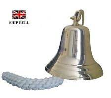 "6""  BRASS SHIP BELL WALL HANGING BRACKET DOUBLE POLISHED FOR PUB SCHOOL"