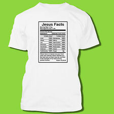 JESUS Nutrition Facts homeboy religious T-SHIRT Gift Church