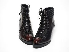 Mens Leather Lace-Up SIDE Zip Ankle Boots PREMIUM BROWN (M 214)_STORE IN KOREA