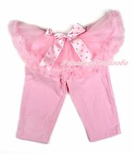 Light Pink Tutu Pink Legging Pink Polka Dot Bow Dress Pettiskirt Pant Tight 1-7Y