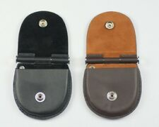 Pocketwatch leather case holder brown or black cases container protector display