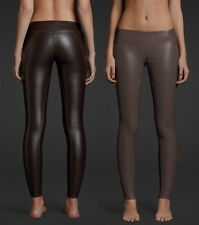 Abercrombie & Fitch Womens A&F Midrise Leggings Vegan Leather NWT $98 Retail