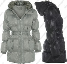 NEW Womens HOODED PADDED Ladies JACKET WINTER COAT Size 8 10 12 14 16 Parka