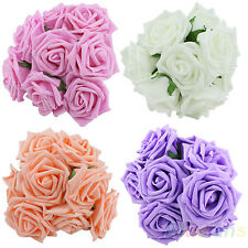 Beauty Bridal Wedding Party Bouquet Rose Flower Head Bridesmaid Decor Posy B84U