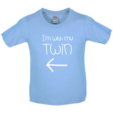 I'm With My Twin ( Left) - Kids / Childrens T-Shirt - Twins - Identical