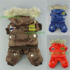 Waterproof Winter Dog Clothes Warm Parka Pet Coat Thick Jumpsuit Free Shipping