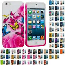For iPhone 5S 5 5G Color TPU Design Soft Rubber Case Skin Cover Accessory